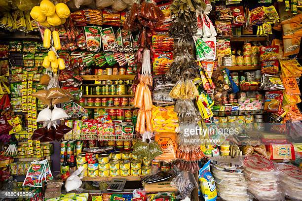 asian market stall - cebu stock photos and pictures