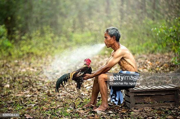 asian old man - gliedmaßen körperteile stock-fotos und bilder