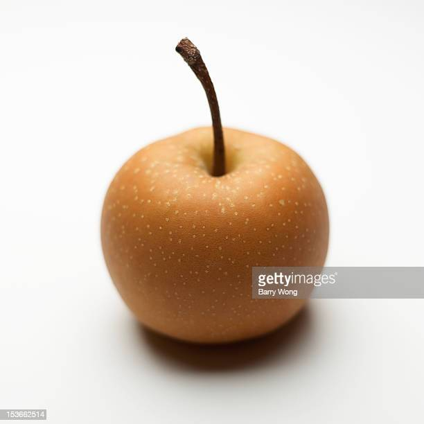 Asian pear on white