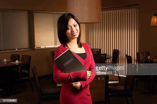 Asian Restaurant Host and Maitre' d, Chinese Small Business Owner