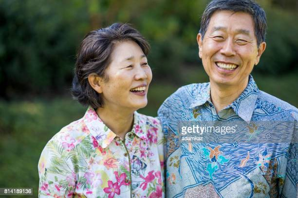 asian senior couple - korean ethnicity stock pictures, royalty-free photos & images