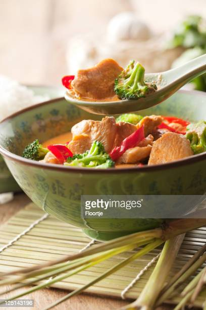Asian Stills: Chicken Curry with Broccoli in Bowl