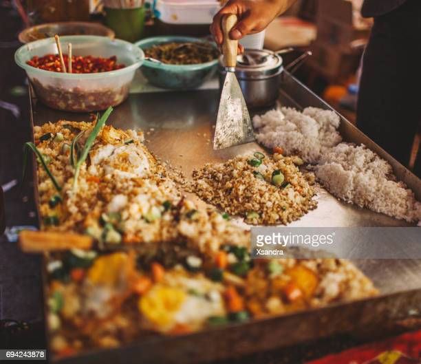 Asian street food - fried rice