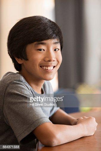 Asian boy teen