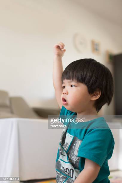 Asian toddler boy