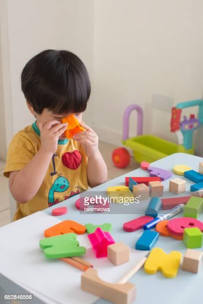 Asian toddler boy