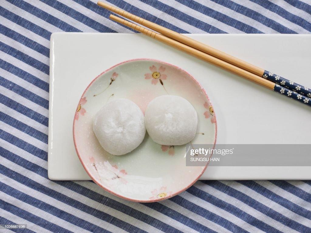 Asian traditional food glutinous rice cake : Stock Photo