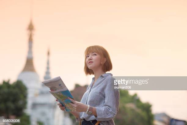 asian traveller explorer in urban chiangmai city - editorial stock pictures, royalty-free photos & images