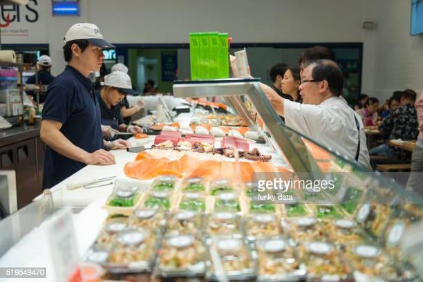 Asian visitors of Sydney Fish Market