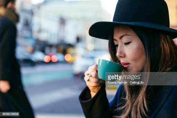 Asian woman - fashion street style Fitzroy, Melbourne