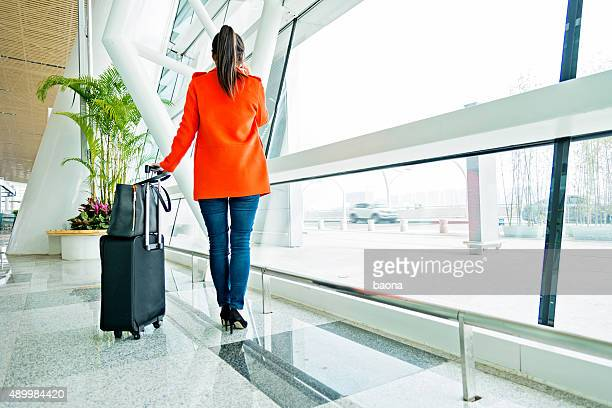 asian woman in airport