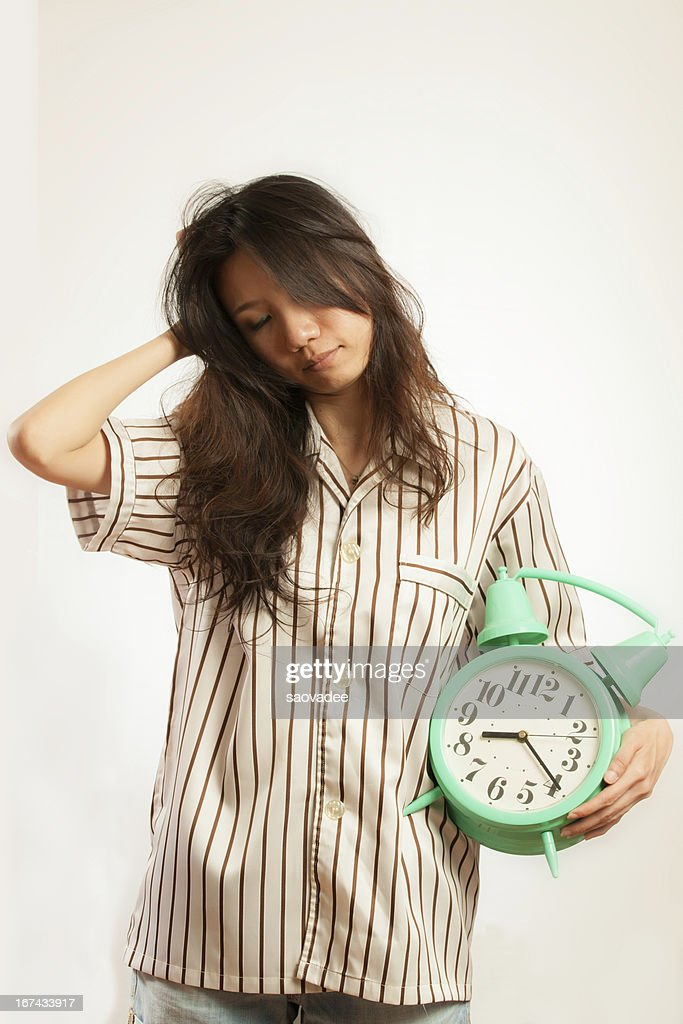 Asian woman in the morning : Stock Photo