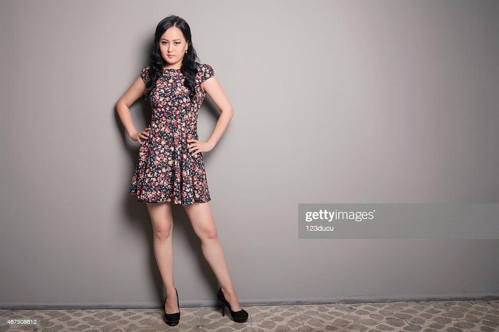 Asian Woman Looking : Stock Photo