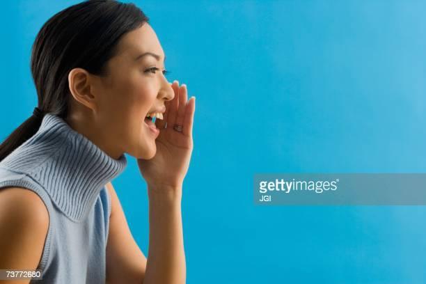 Asian woman yelling