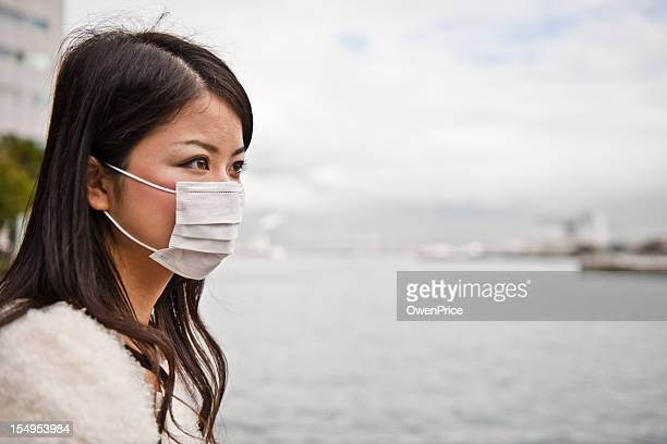 Asian Women wearing facemask
