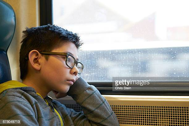 asian young boy traveling - scarsdale stock photos and pictures