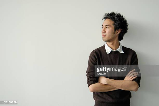 asian young man profile