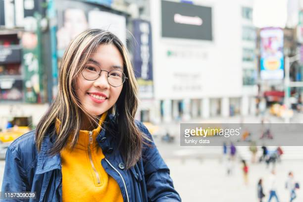 asian young woman portrait in ximen taipei - vietnamese ethnicity stock pictures, royalty-free photos & images