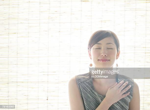Asian young woman posing