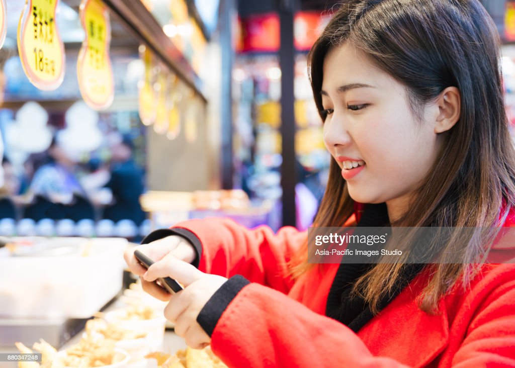 Pictures of asian taking of food
