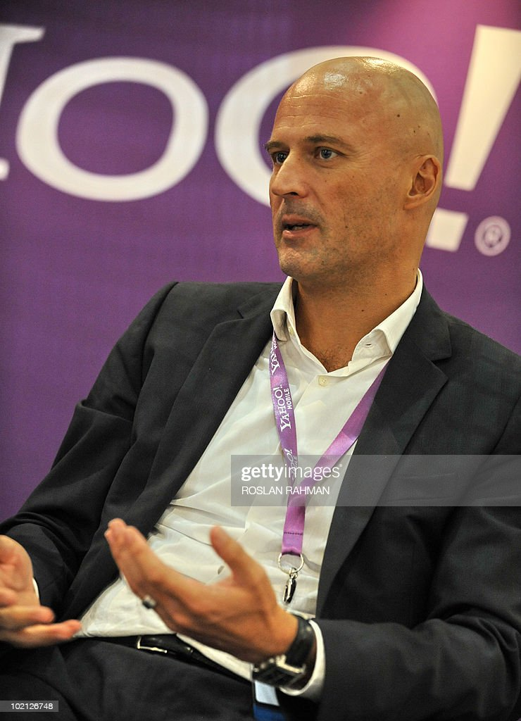 Asia-telecom-Yahoo-Internet-Singapore,FOCUS, by Martin Abbugao Matthias Kunze, Yahoo's Asia Pacific Managing Director speaks during an interview at the CommunicAsia 2010 conference and exhibition show in Singapore on June 15, 2010.