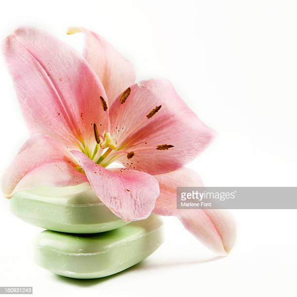 Asiatic lily and soaps