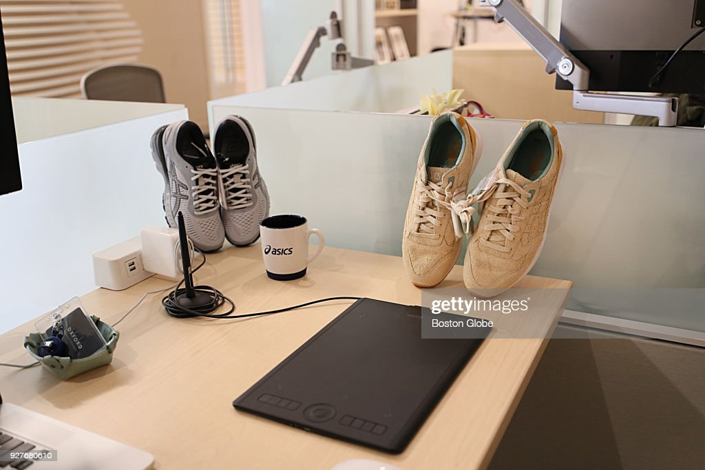 Gentil Asics Shoes Sit On A Desk In The Companyu0027s New Asics Creation Studio Office  Space In