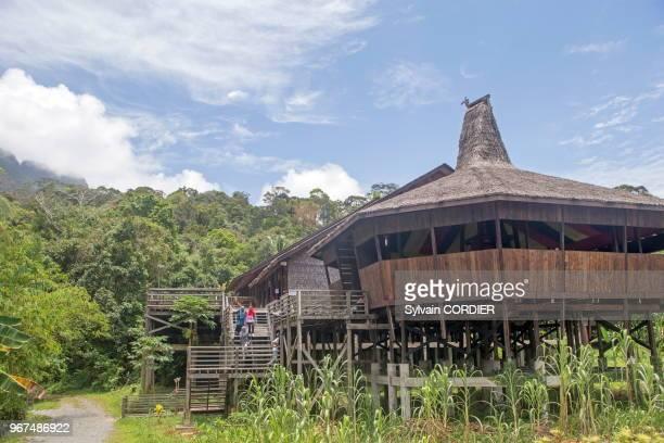 Asie Malaisie Bornéo Sarawak Kuching écomusée Sarawak Longhouse du groupe Bidayuh