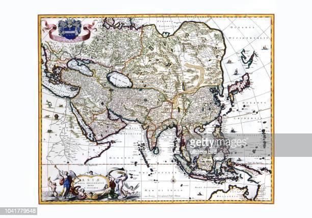 Asien-Asia 1682. Von Nicolaas Visscher, Amsterdam 1682