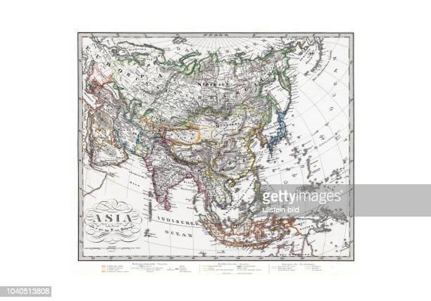 Asien-Asia 1875. Mit Kennzeichnung der europäischen Kolonialbesitzungen. Aus: Hand Atlas über alle Theile der Erde und über das Weltgebäude....