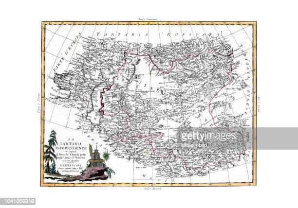 Asien-Zentral 1784. La Tartaria indipendiente che comprende il Paese de'Calmuchi quello degli Usbeks, e il Turkestan. Co le Loro Dipendenze. Von...