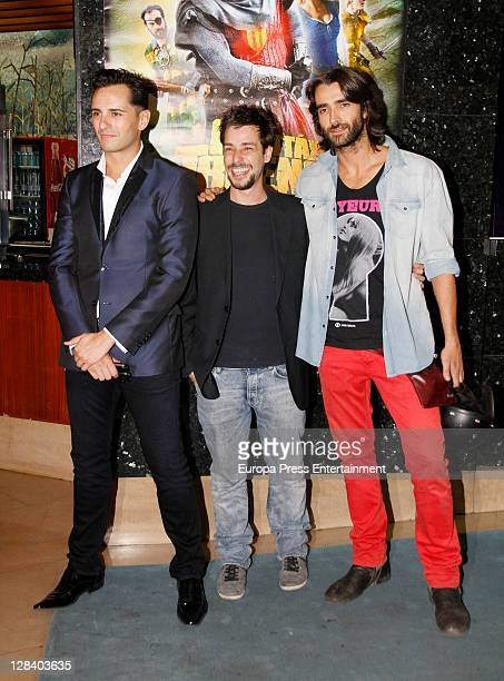 Asier Etxeandia and Aitor Luna attend 'Capitan Trueno' premiere on October 6, 2011 in Madrid, Spain.