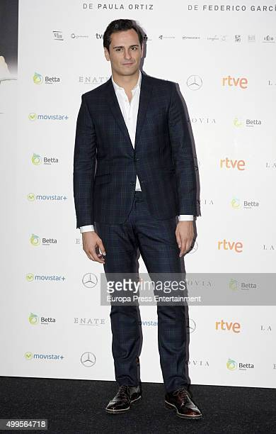Asier Etxeandia attends 'La Novia' premiere on December 1 2015 in Madrid Spain