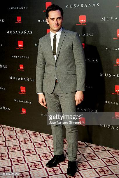 Asier Etxeandia attends the 'Musaranas' premiere at the Capitol cinema on December 17 2014 in Madrid Spain
