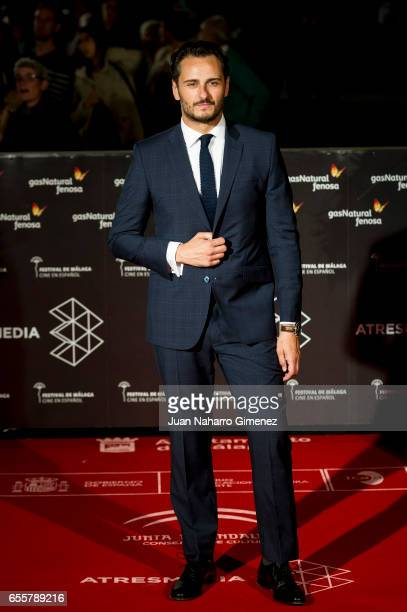 Asier Etxeandia attends the 'No Se Decir Adios' premiere during the 20th Malaga Film Festival 2017 Day 4 at the Cervantes Theater on March 20 2017 in...