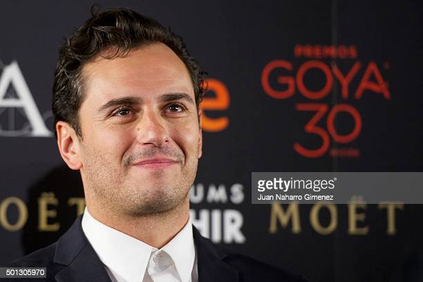 Asier Etxeandia attends to the 'Candidates to Goya Cinema Awards 2016' press conference at Academia de Cine on December 14 2015 in Madrid Spain