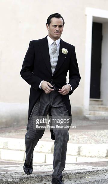 Asier Etxeandia is seen during the set filming of 'Galerias Velvet' on December 14 2015 in Madrid Spain