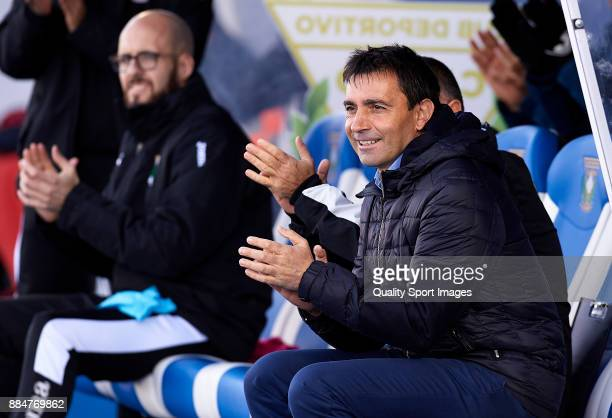 Asier Garitano Manager of Leganes reacts during the La Liga match between Leganes and Villarreal at Estadio Municipal de Butarque on December 3 2017...