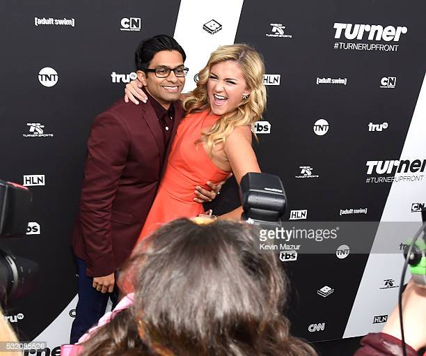Asif Ali and Jessica Lowe attend Turner Upfront 2016 arrivals at The Theater at Madison Square Garden on May 18 2016 in New York City