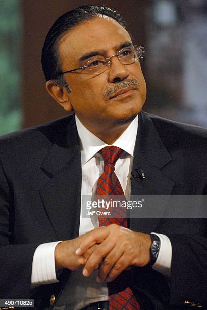 Asif ali Zardari widower of Benazir Bhutto on BBC news and current affairs programme The Andrew Marr Show, 11th May 2008, .