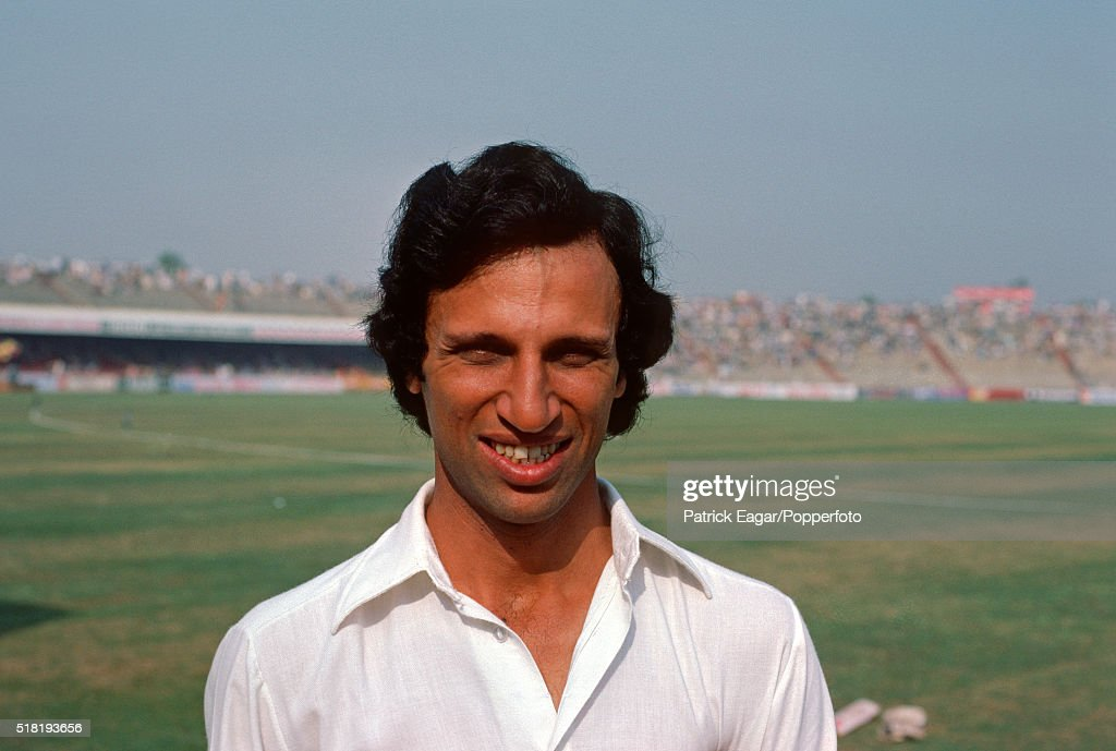 Asif Iqbal of Pakistan during the 2nd Test between Pakistan and India at Lahore Pakistan 27th October 1978