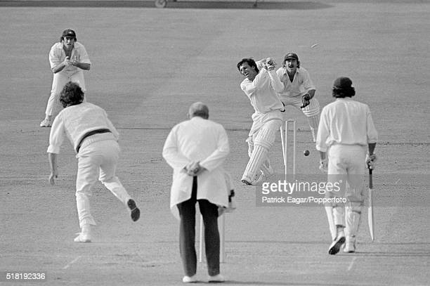 Asif Iqbal of Pakistan is bowled by Dennis lillee of Australia for 53 during the Prudential World Cup match between Australia and Pakistan at...