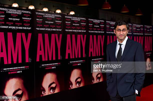 """Asif Kapadia attends the London Gala premiere of """"Amy"""" on June 30, 2015 in London, England."""