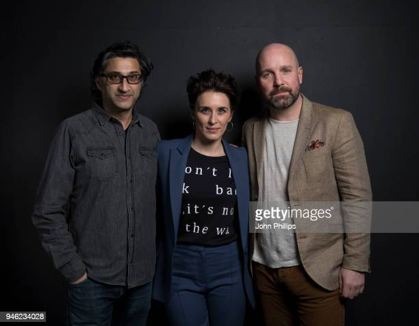Asif Kapadia Vicky McClure and Johnny Harris during the Working Class Heroes event a series of discussions and screenings looking at what it means to...
