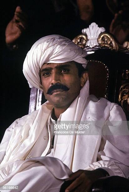 Asif Zardani, during his wedding with Benazir Bhutto, Pakistani politician. Karachi, December 1987.