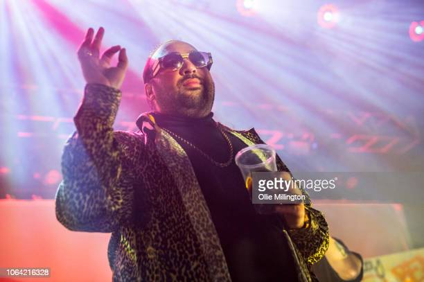"""Asim Chaudhry performs in character as Chabuddy G of Kurupt FM from the BBC comedy """"The People Just Do Nothing"""" onstage at O2 Forum Kentish Town..."""