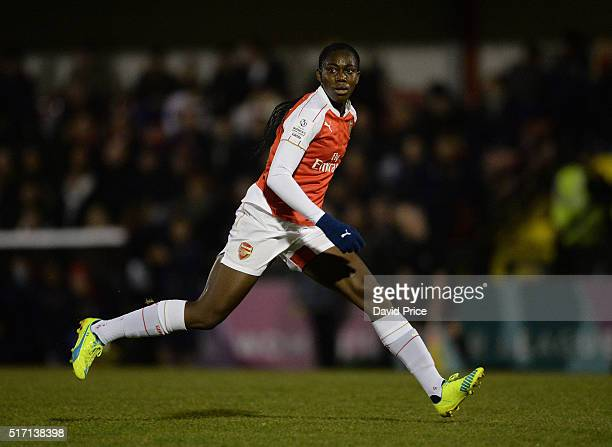 Asisat Oshoala of Arsenal Ladies during the match between Arsenal Ladies and Reading FC Women on March 23 2016 in Borehamwood England