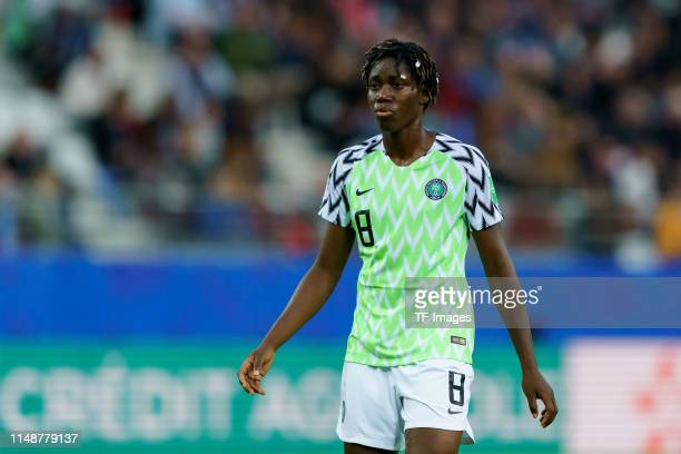 Asisat Oshoala of Nigeria looks on during the 2019 FIFA Women's World Cup France group A match between Norway and Nigeria at Stade Auguste Delaune on...