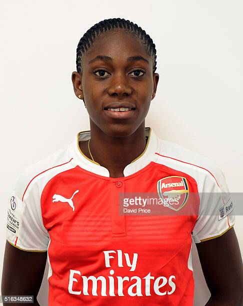 Asisat Oshoala the new Arsenal Ladies signing at London Colney on March 10 2016 in St Albans England