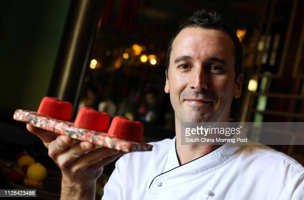 Ask The Foodie portrait of pastry chef Alexis Watrin with desserts 'The RED' Hullett House hotel 1881 Heritage 2A Canton Road TST 24OCT12